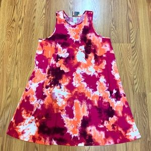 Awesome Tie Dye Sleeveless Sun Dress NWT